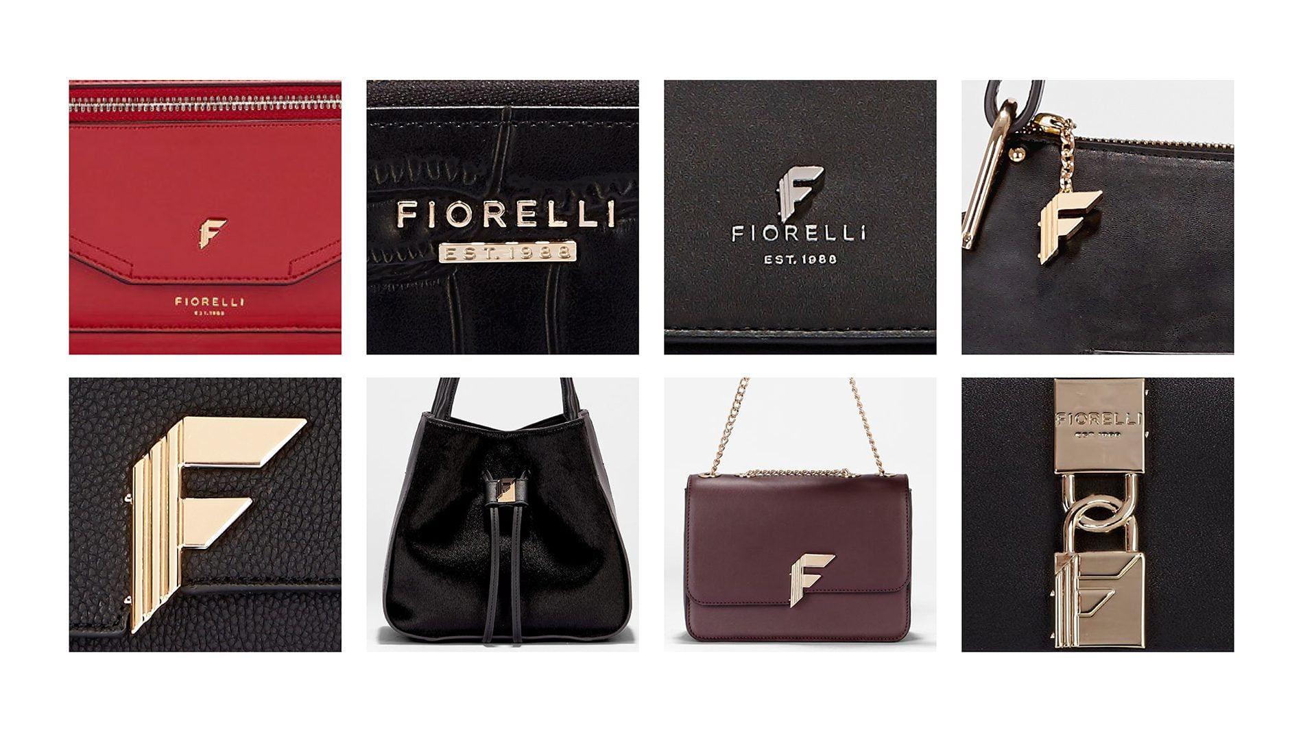 Fiorelli branding on handbags
