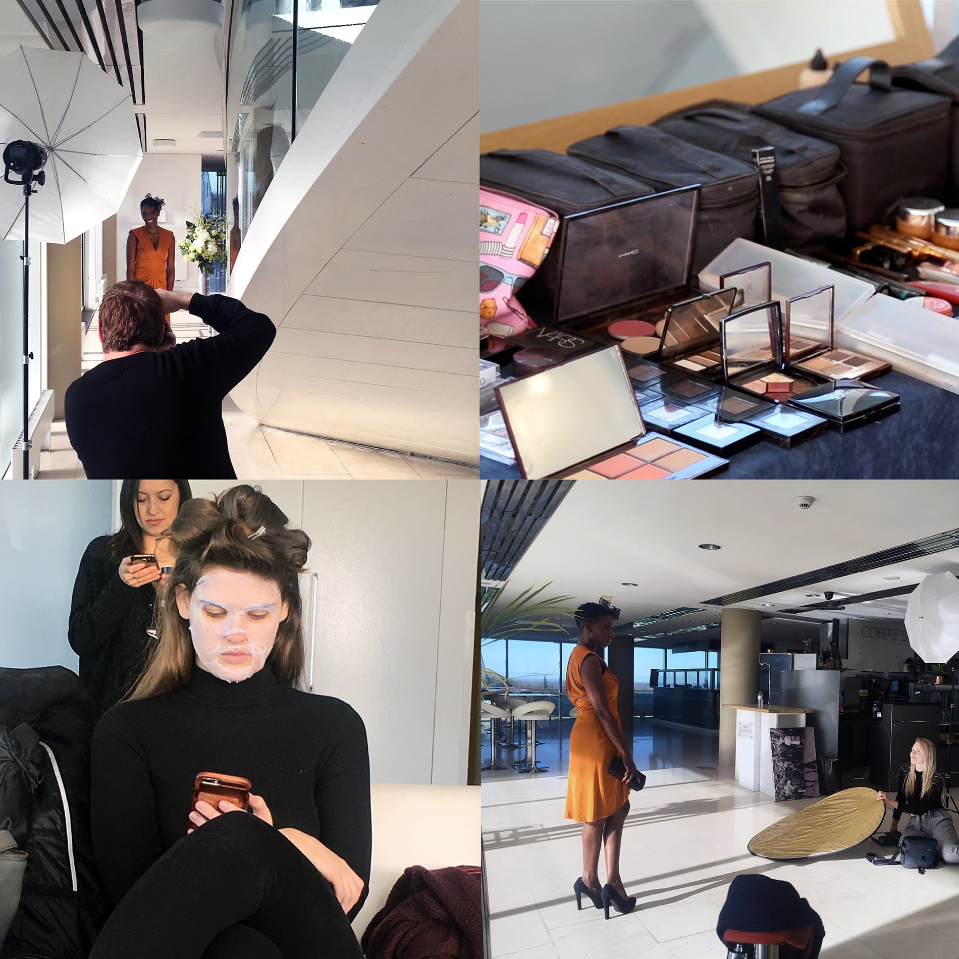 behind the scenes photos from BHF art direction photoshoot