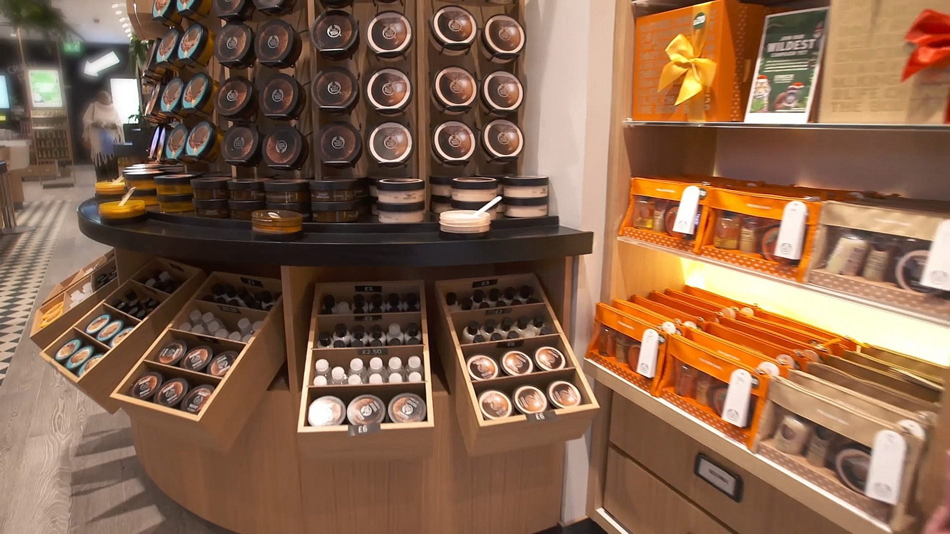 close up of body butter display