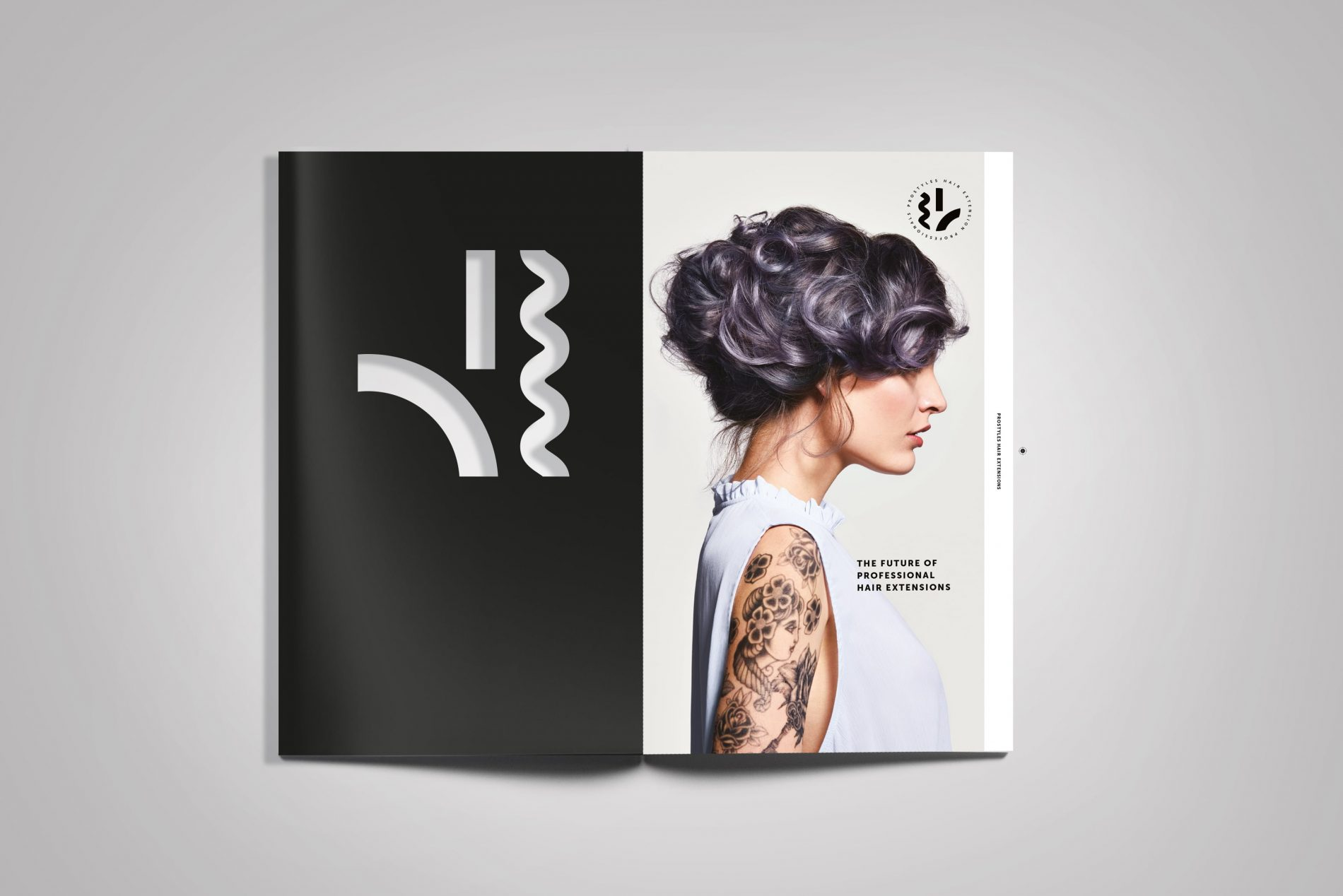 Prostyles open spread of magazine branded by beyond london
