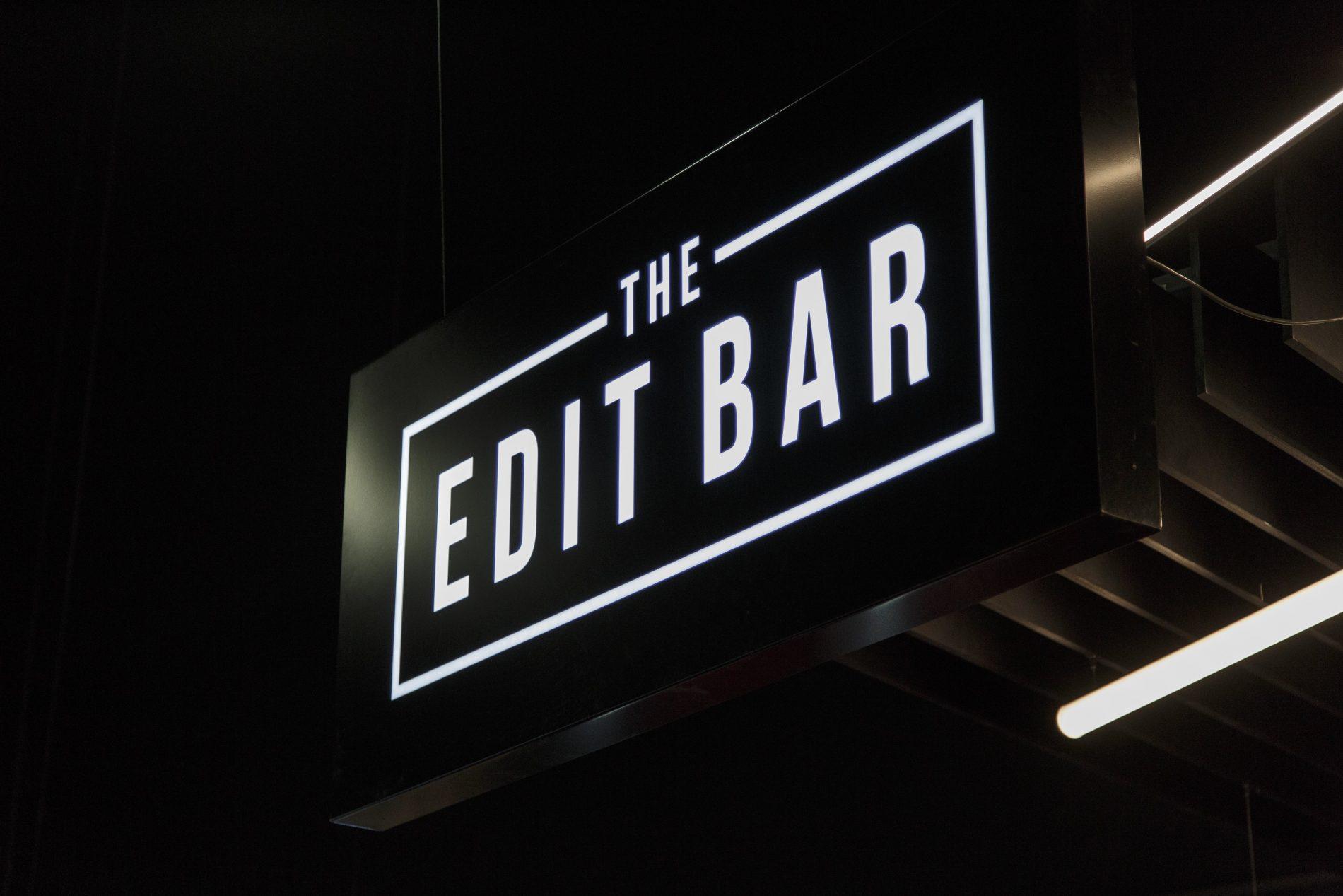 beyond london The Edit Bar Vue retail design signage