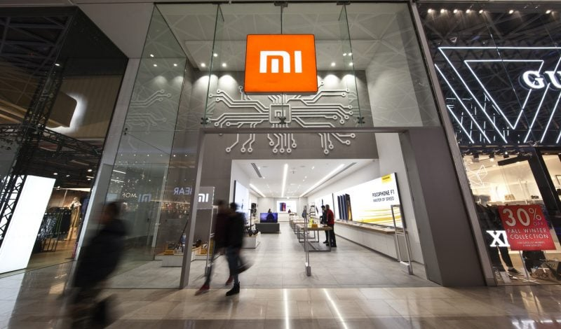 Exterior design of Xiaomi Mi flagship store in Westfield London