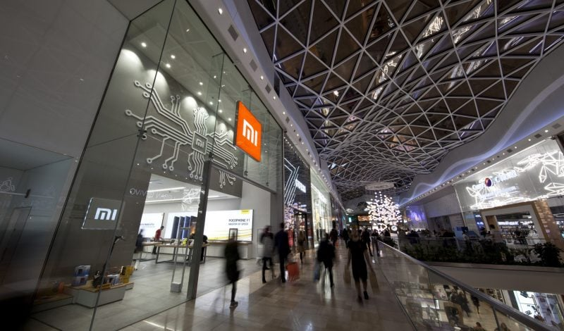 Exterior retail design of Xiaomi Mi store in Westfield London
