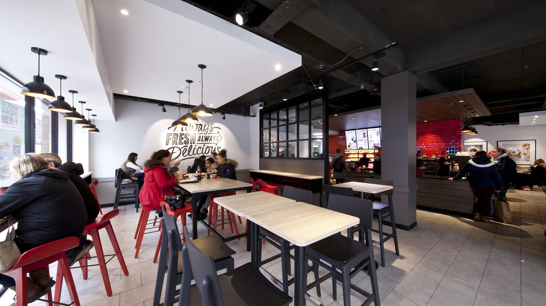 retail design interiors for tim hortons canadian coffee shop