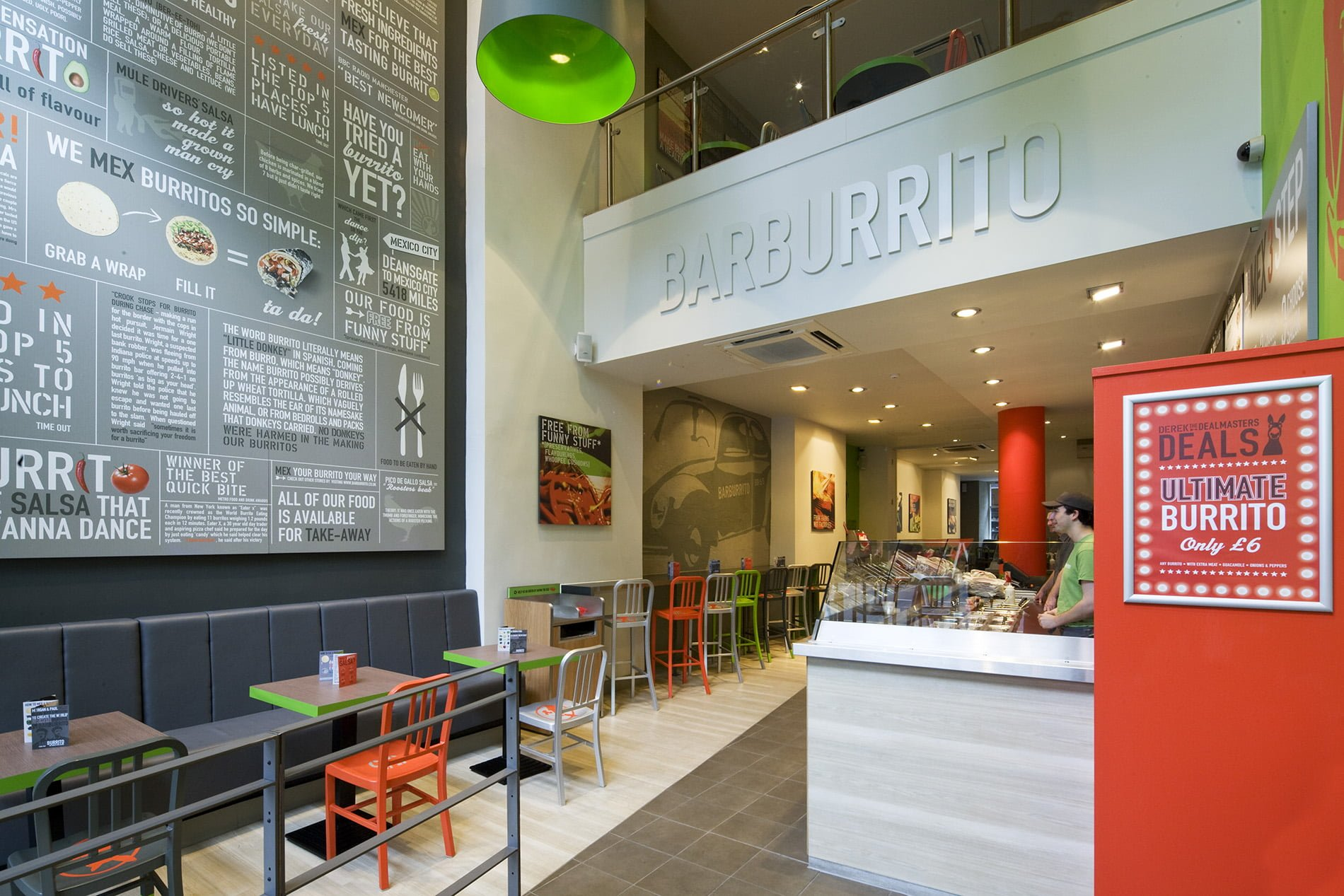 Barburrito interior design of restaurant