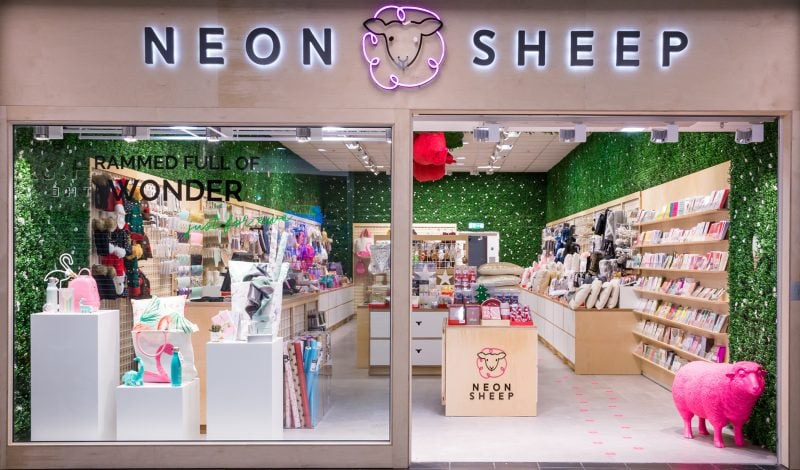 Exterior store design of Neon Sheep