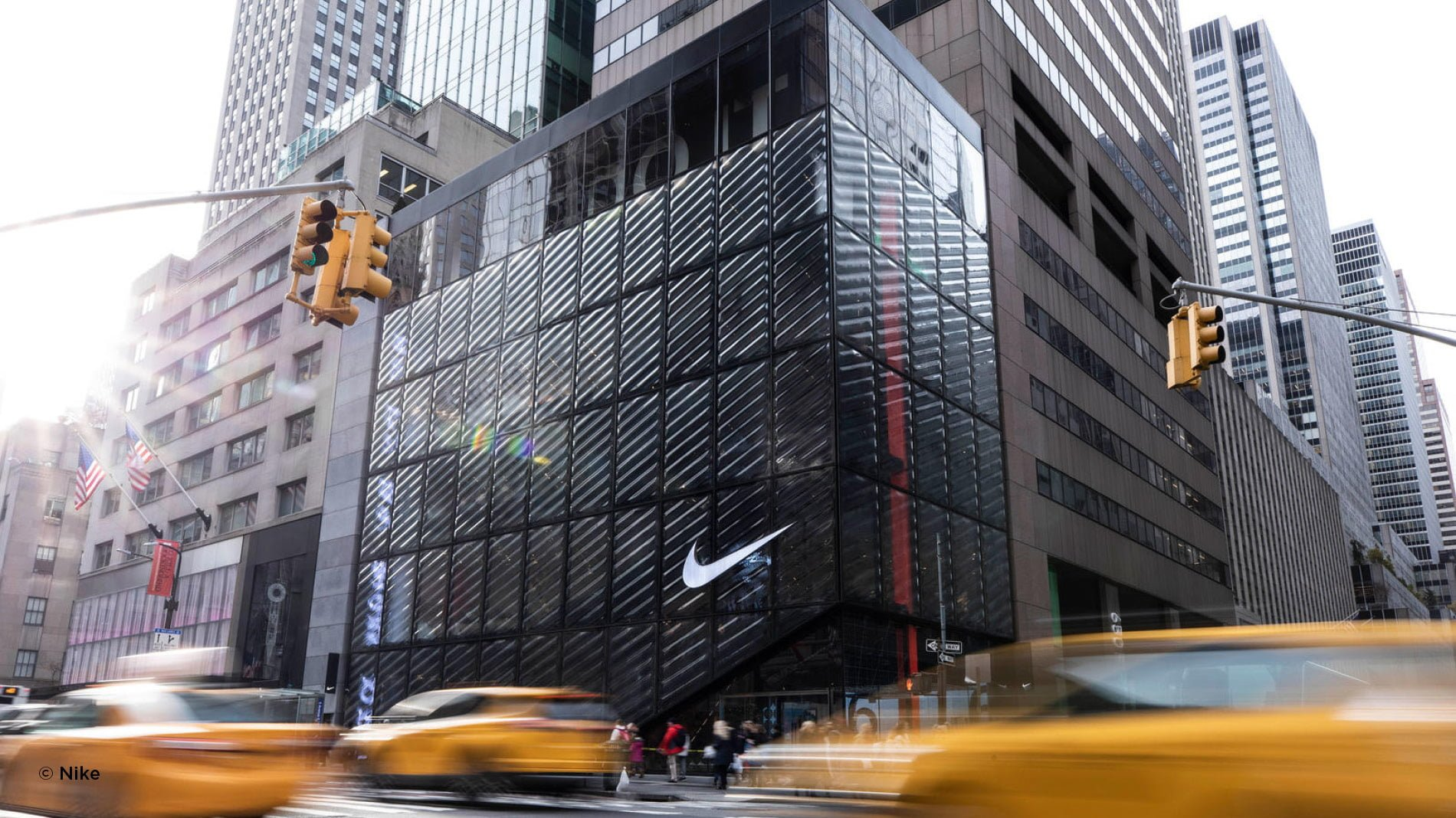 Exterior design of the New York Nike flagship store