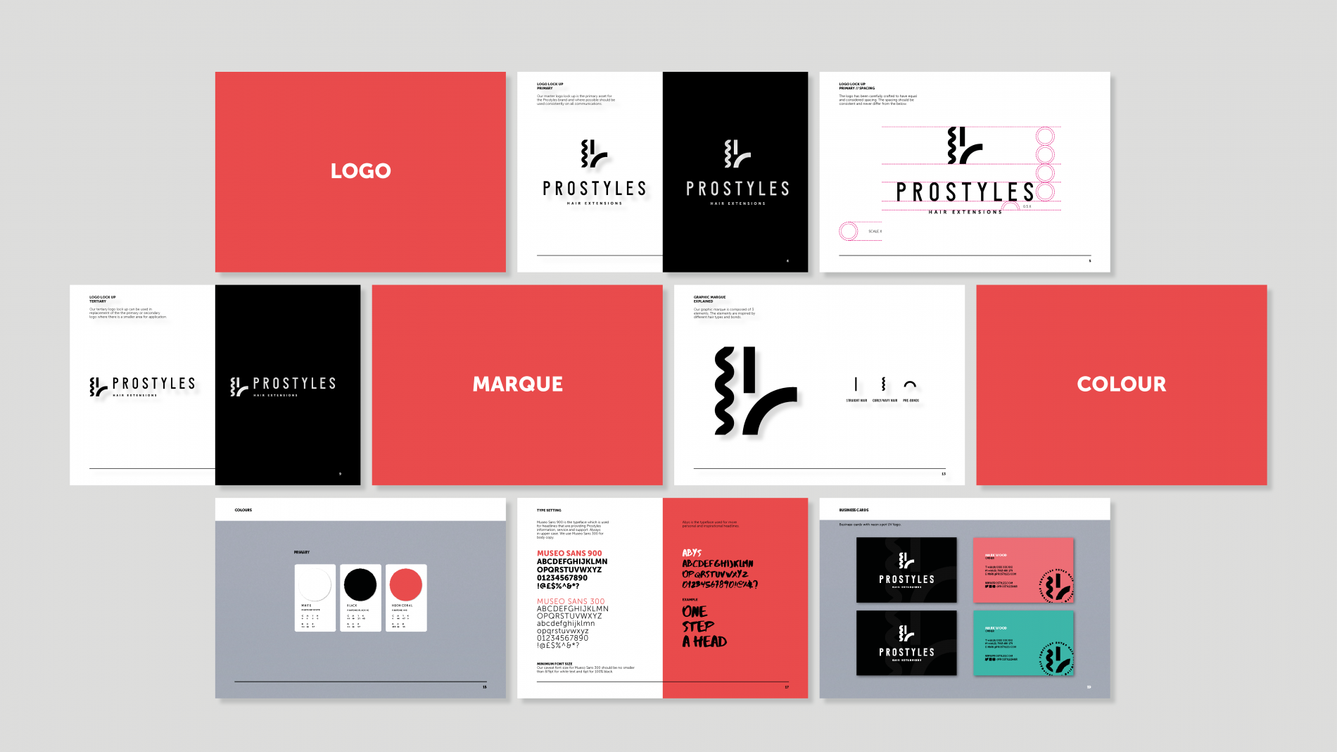 Prostyles brand guideline pages