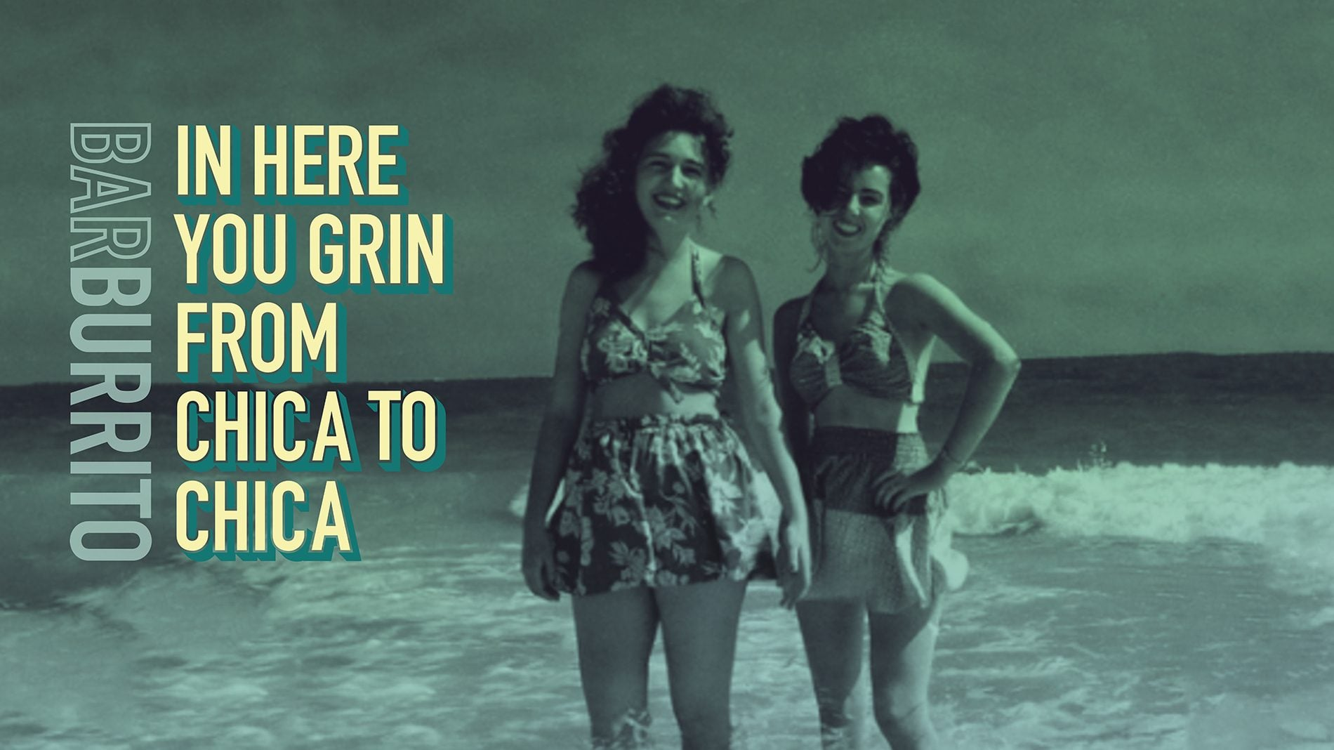 Poster of 2 women in the sea for barburrito restaurant chain