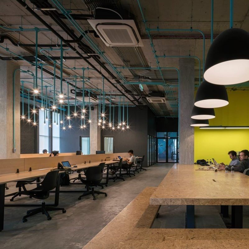 HUBBA coworking hub in the HABITO community shopping centre in Bangkok