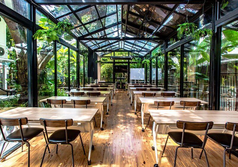 Green house style coworking space at Habito shopping centre, Bangkok, Thailand