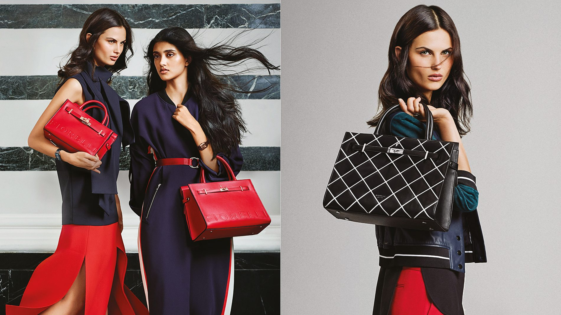 Fiorelli fashion campaign ads for handbags