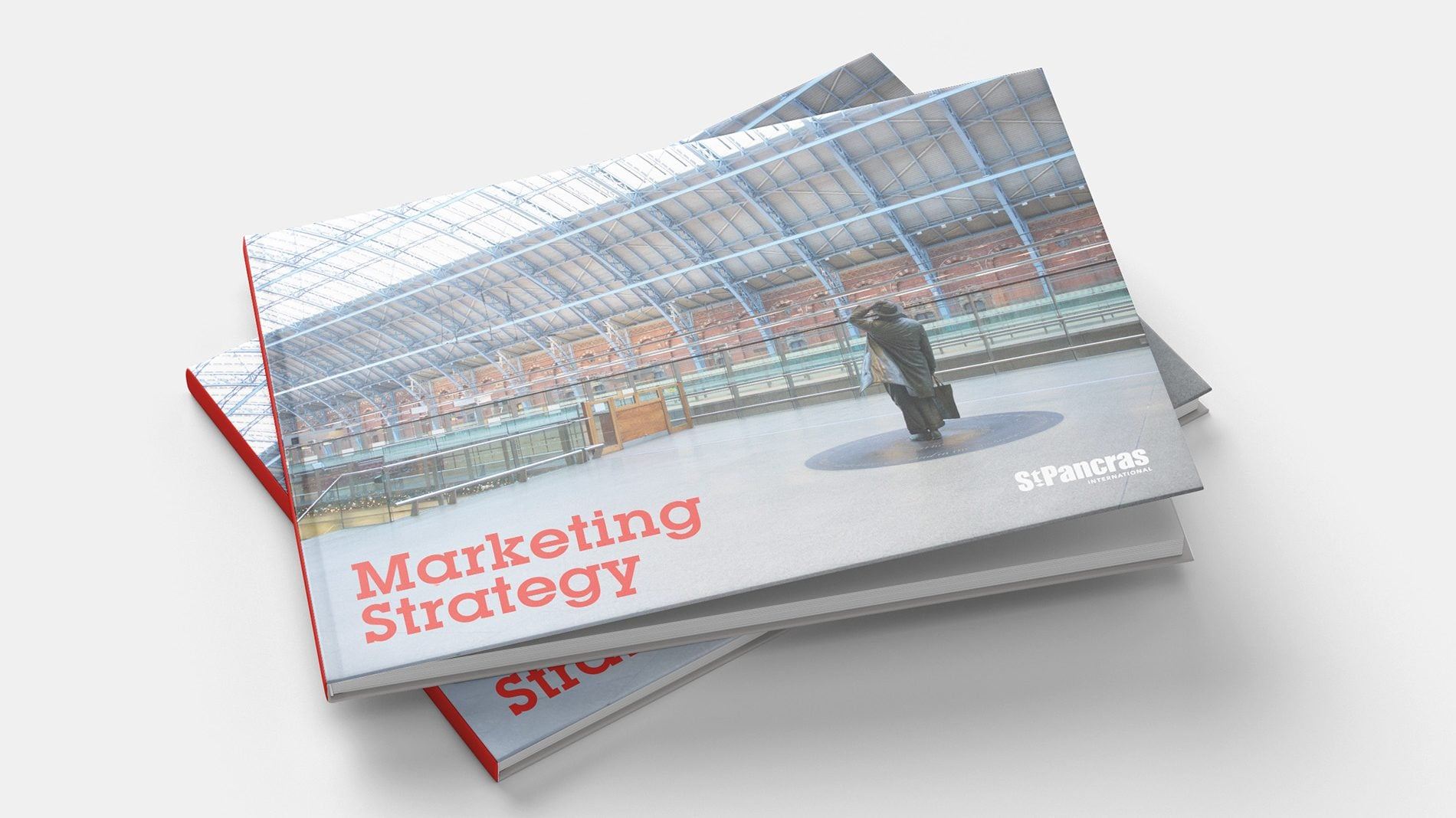 cover of HS1 marketing strategy booklet for st pancras station