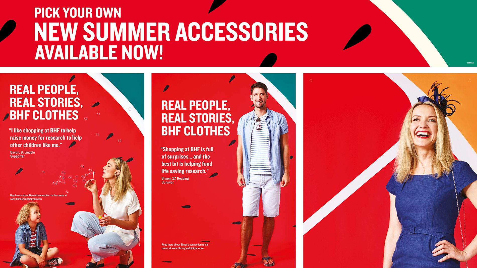 POS for BHF summer campaign