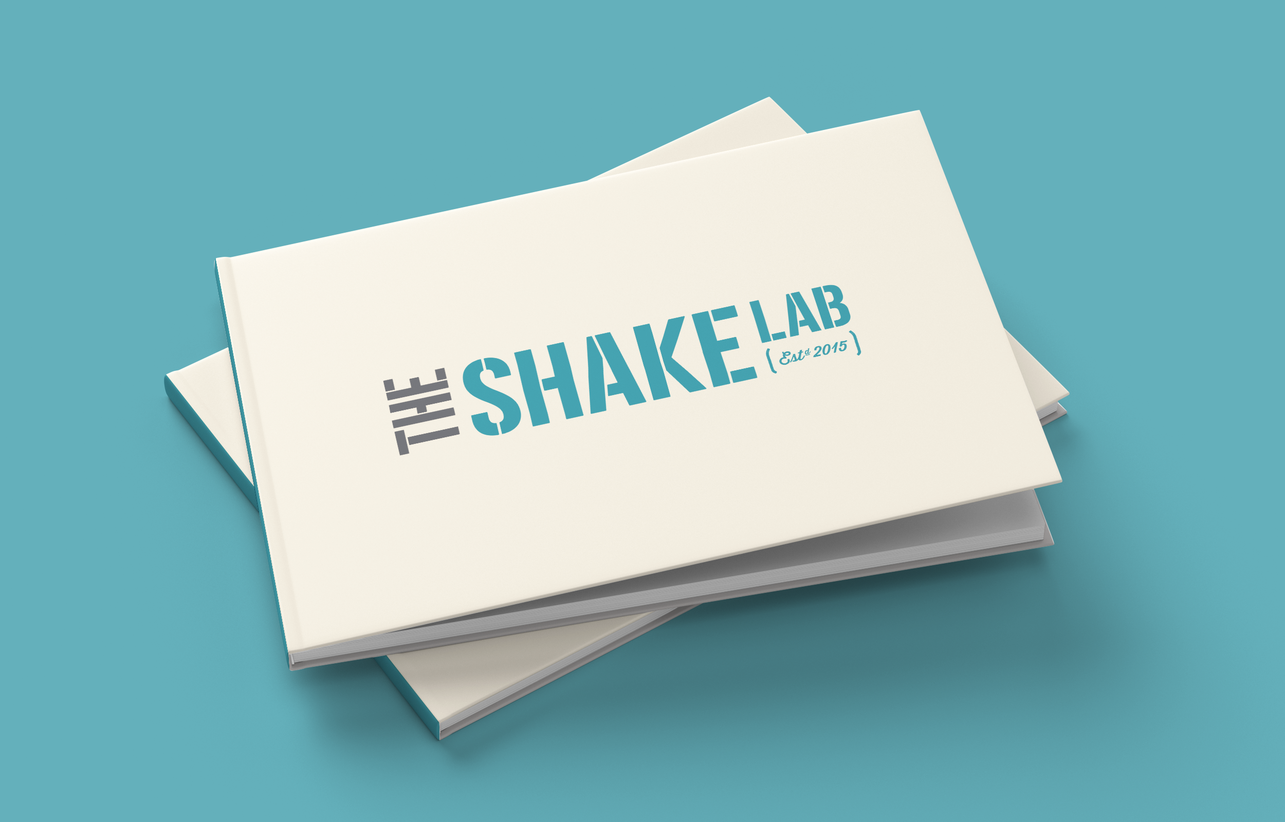 The Shake Lab brand guidelines cover