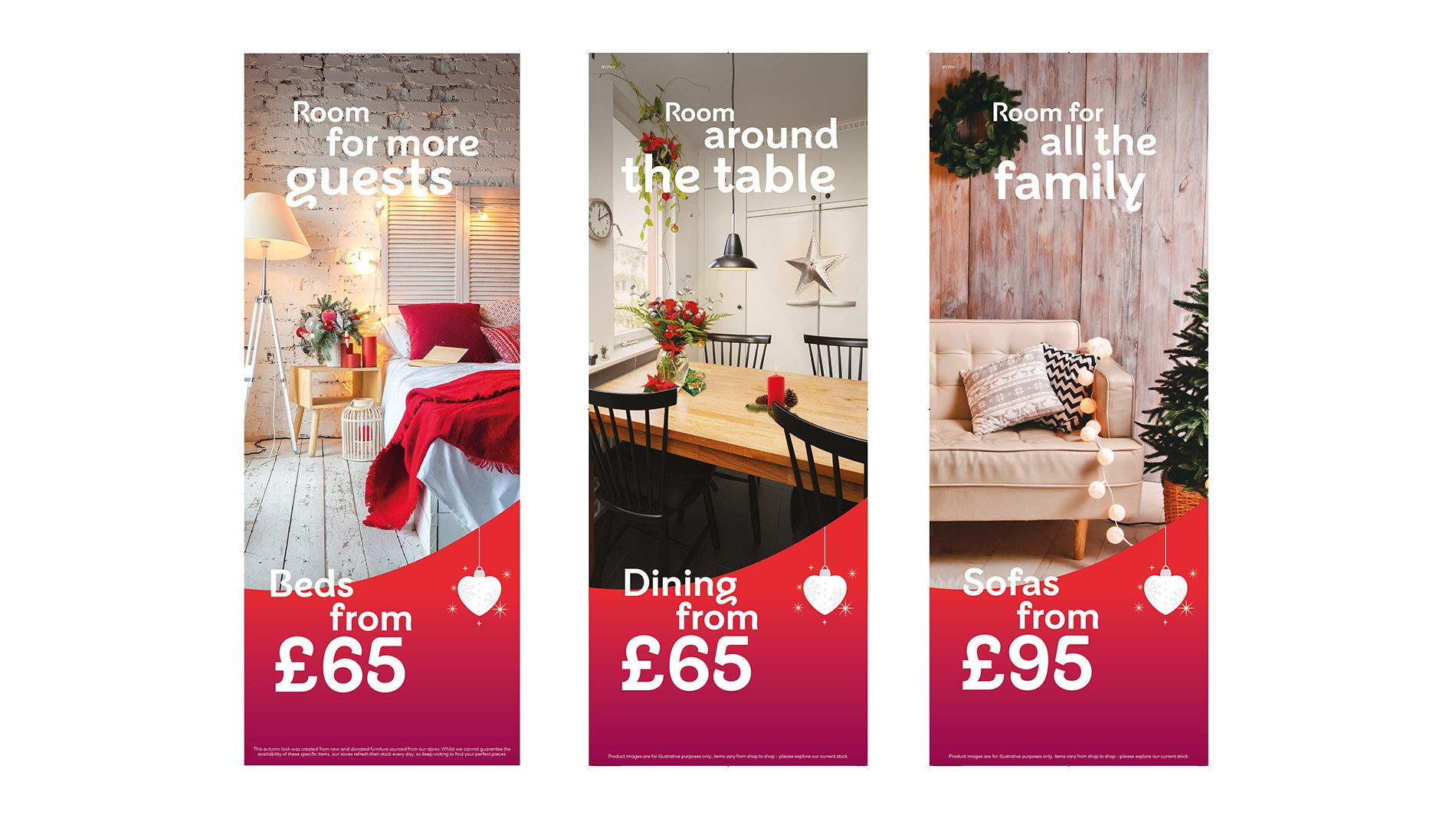 POS graphics of BHF in-store christmas campaign