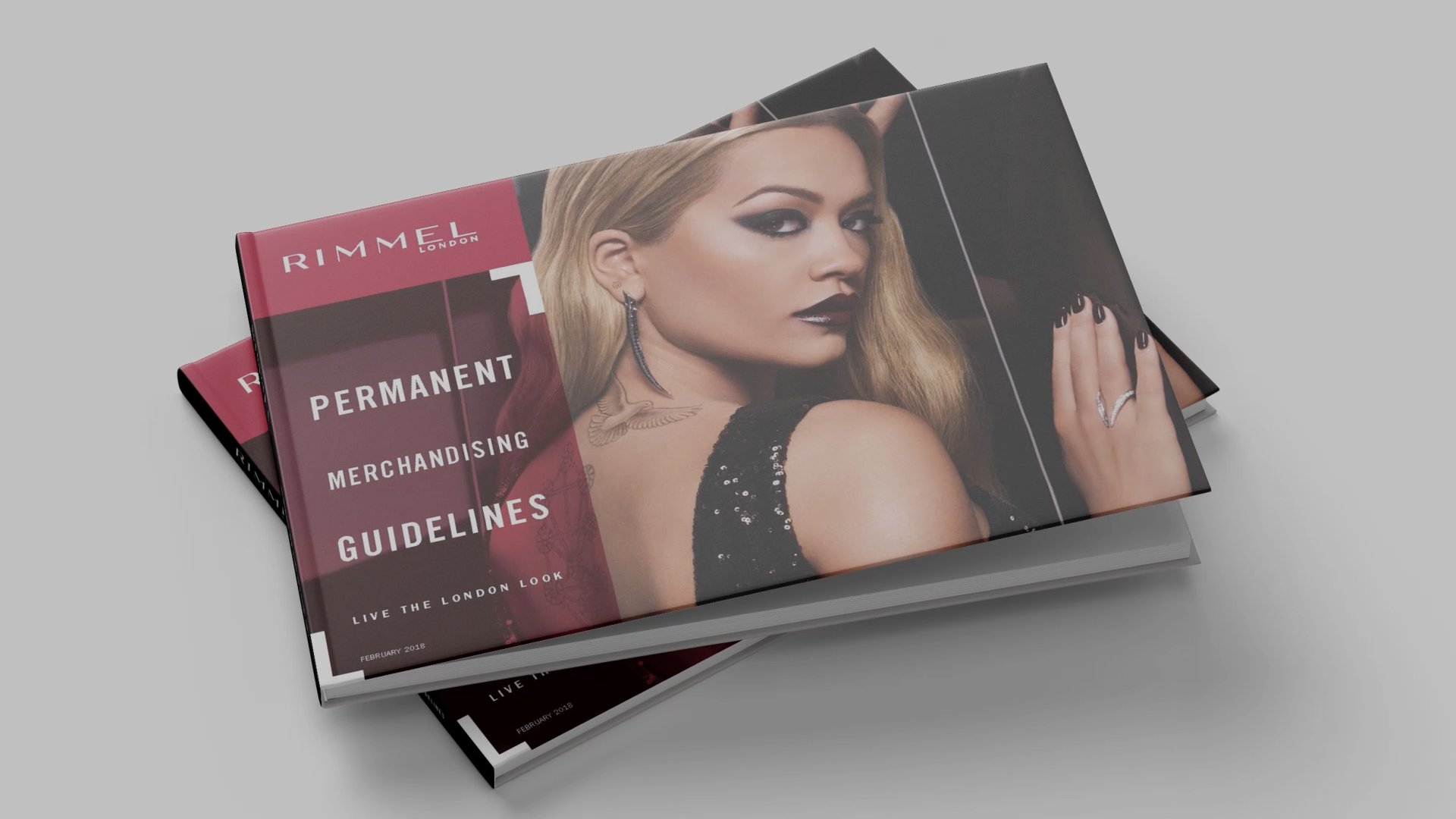 book cover with Rimmel branding