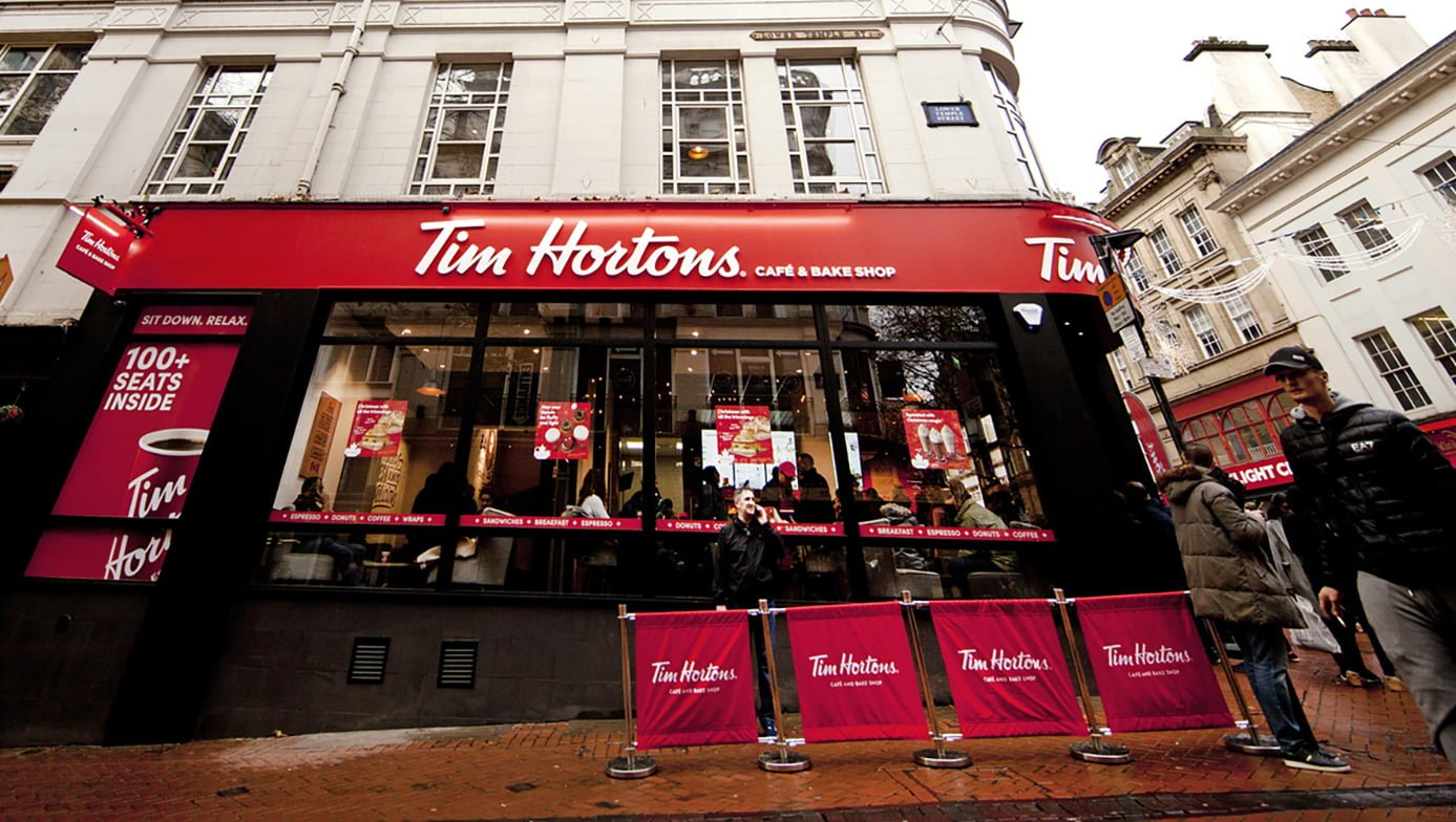 Exterior of tim hortons uk roll out concept