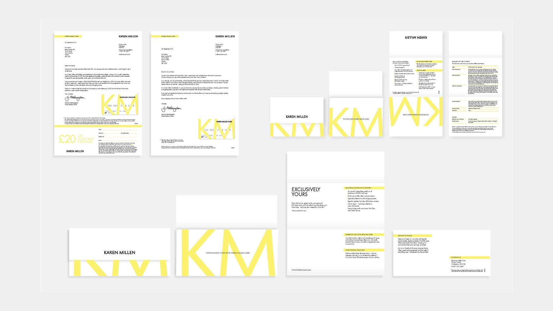 karen millen branded customer touch points