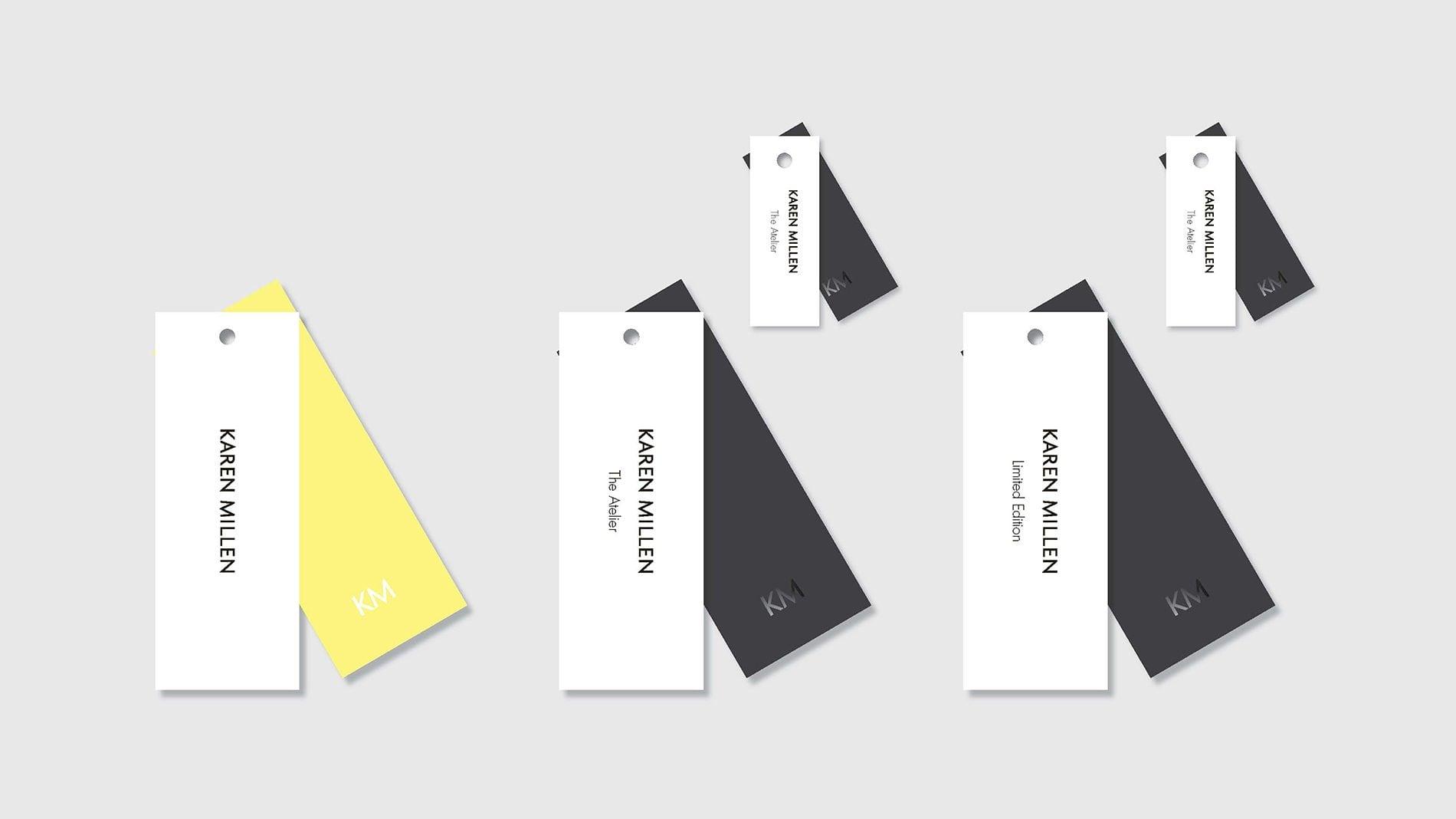 price tags with branding for karen millen
