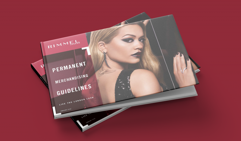 Rimmel retail guidelines cover with red background