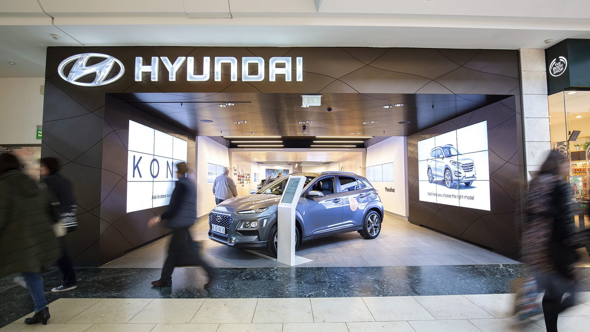 hyundai shopfront at bluewater shopping centre