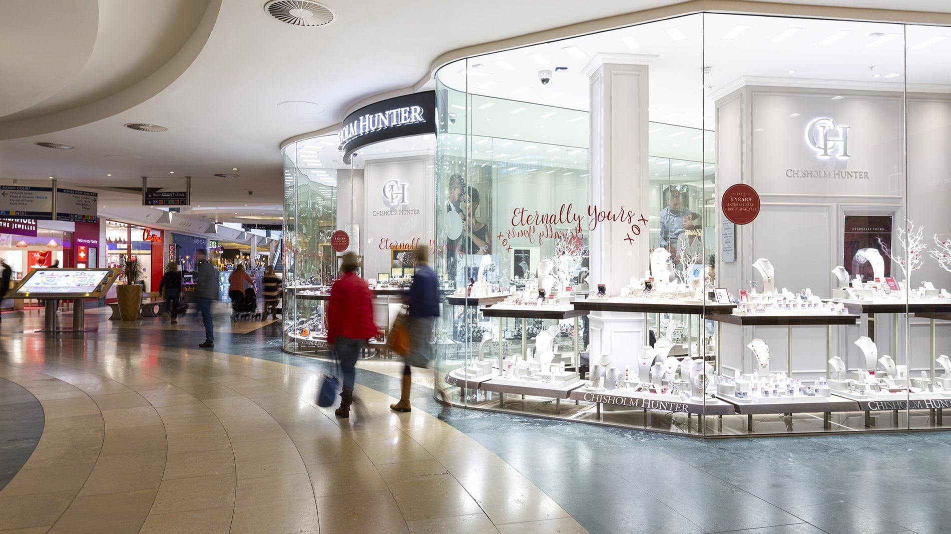 chisholm hunter jewellery store front at bluewater