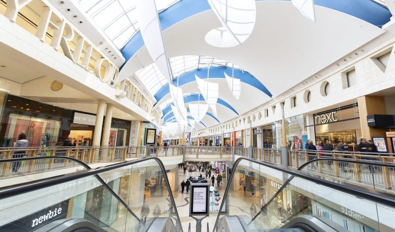 Interior design of Bluewater shopping centre