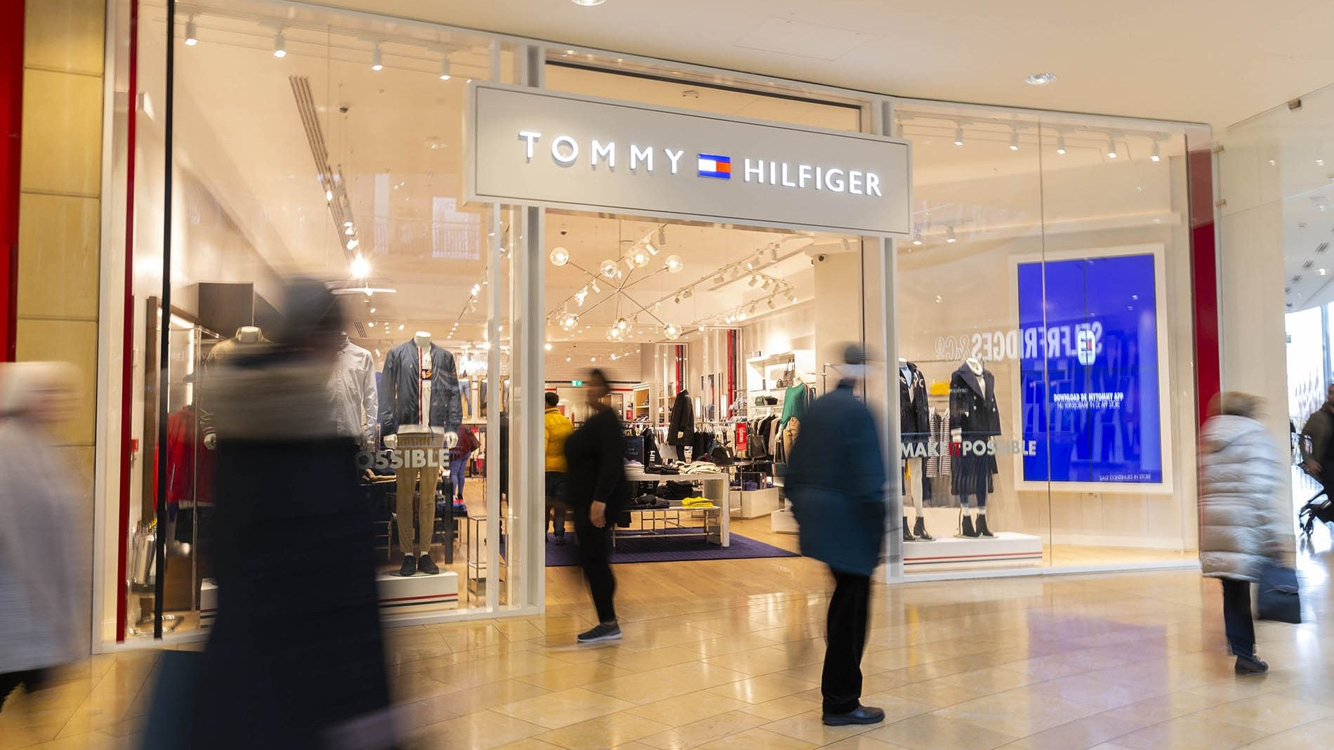 Tommy Hilfiger shopfront at Bullring shopping centre