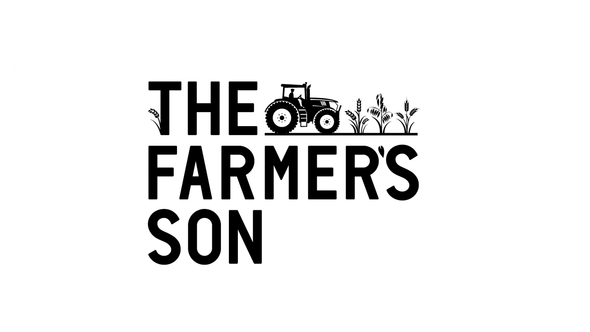 The Farmer's Son logo with farmer on tractor