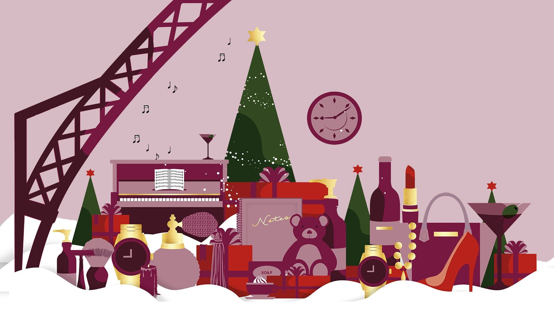 christmas graphic created for HS1 St Pancras christmas campaign