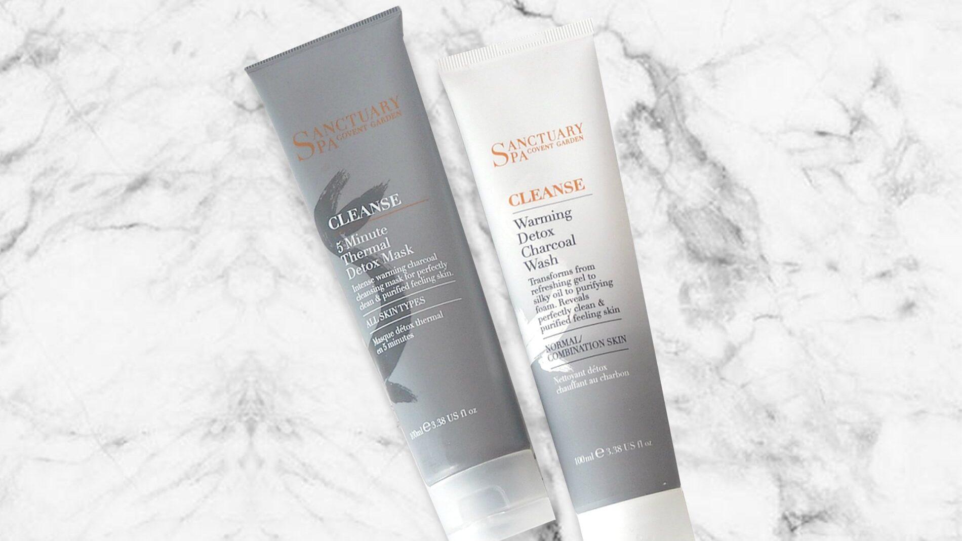 flat lay of sanctuary spa skin care range