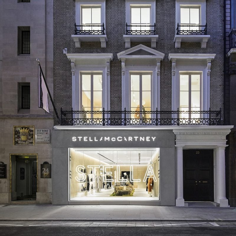 Exterior of Stella McCartney's new sustainably designed Old Bond Street Store in London