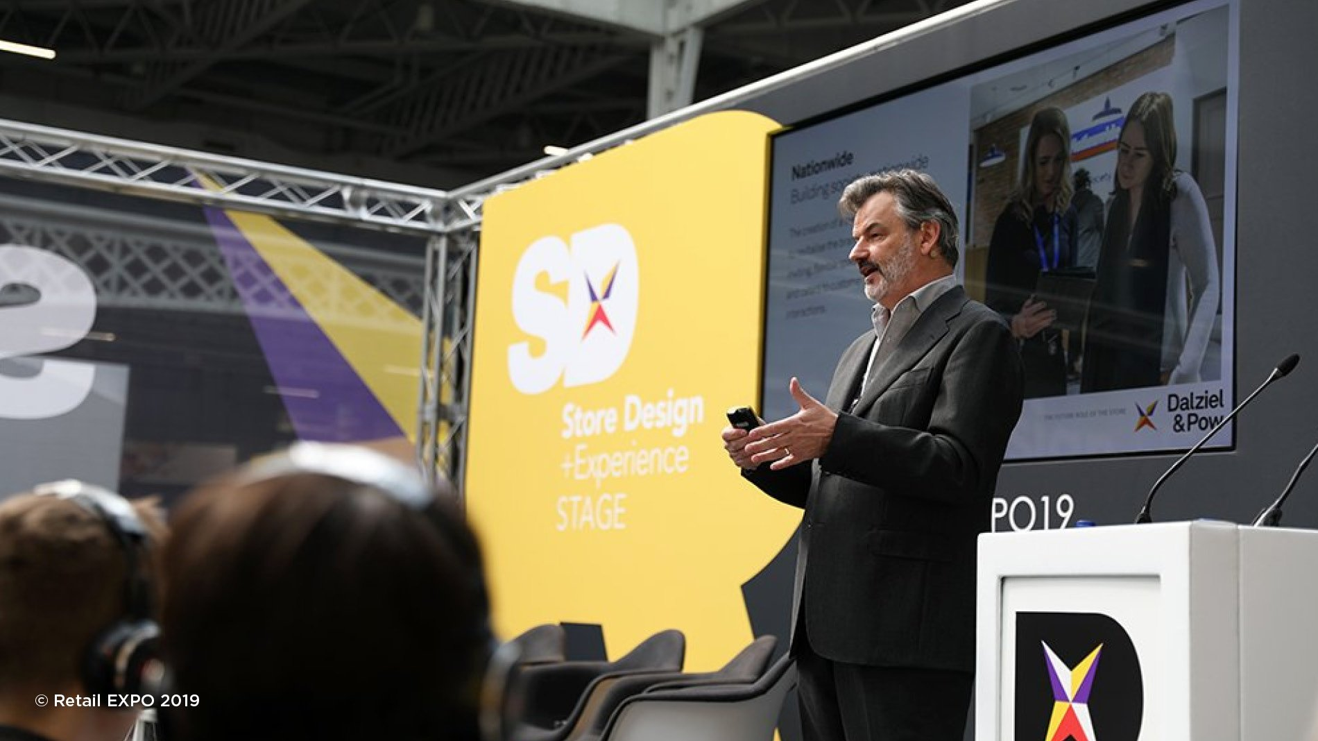 Howard Saunders giving a talk at the Retail EXPO 2019