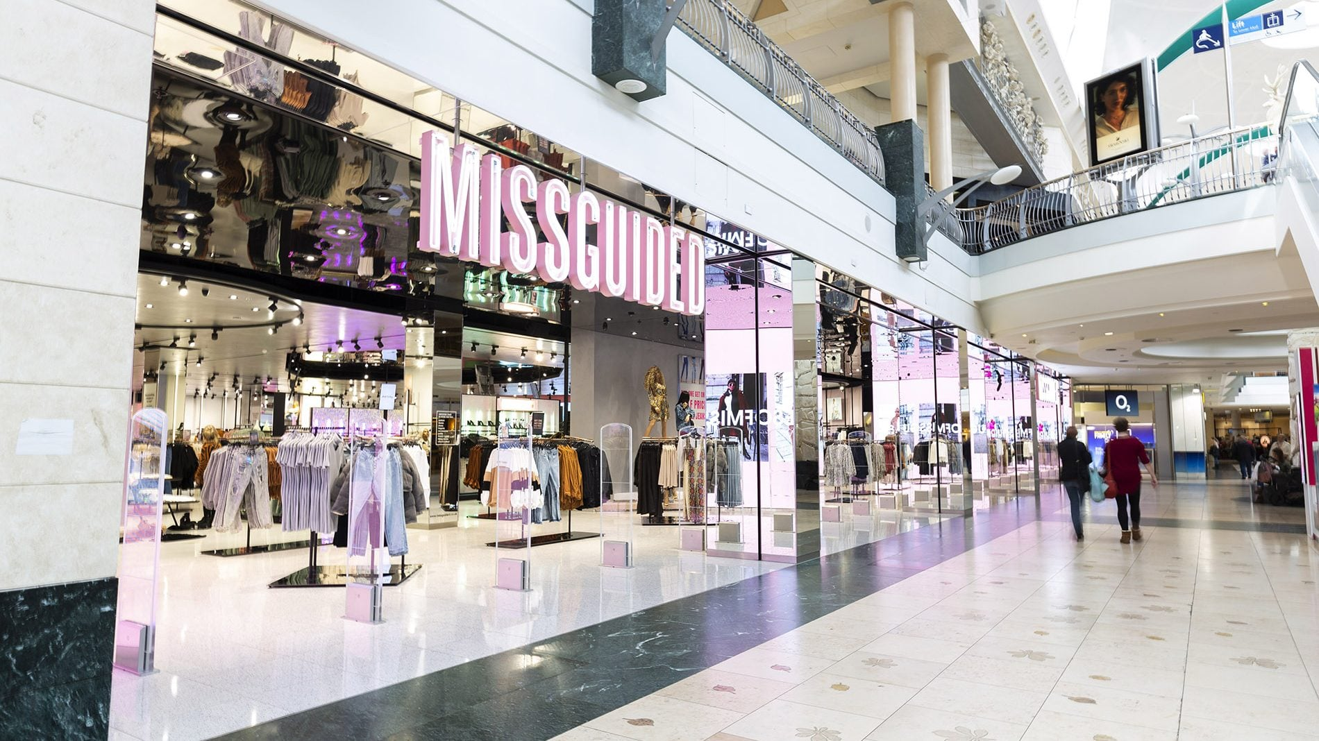 Missguided full store front from side angle