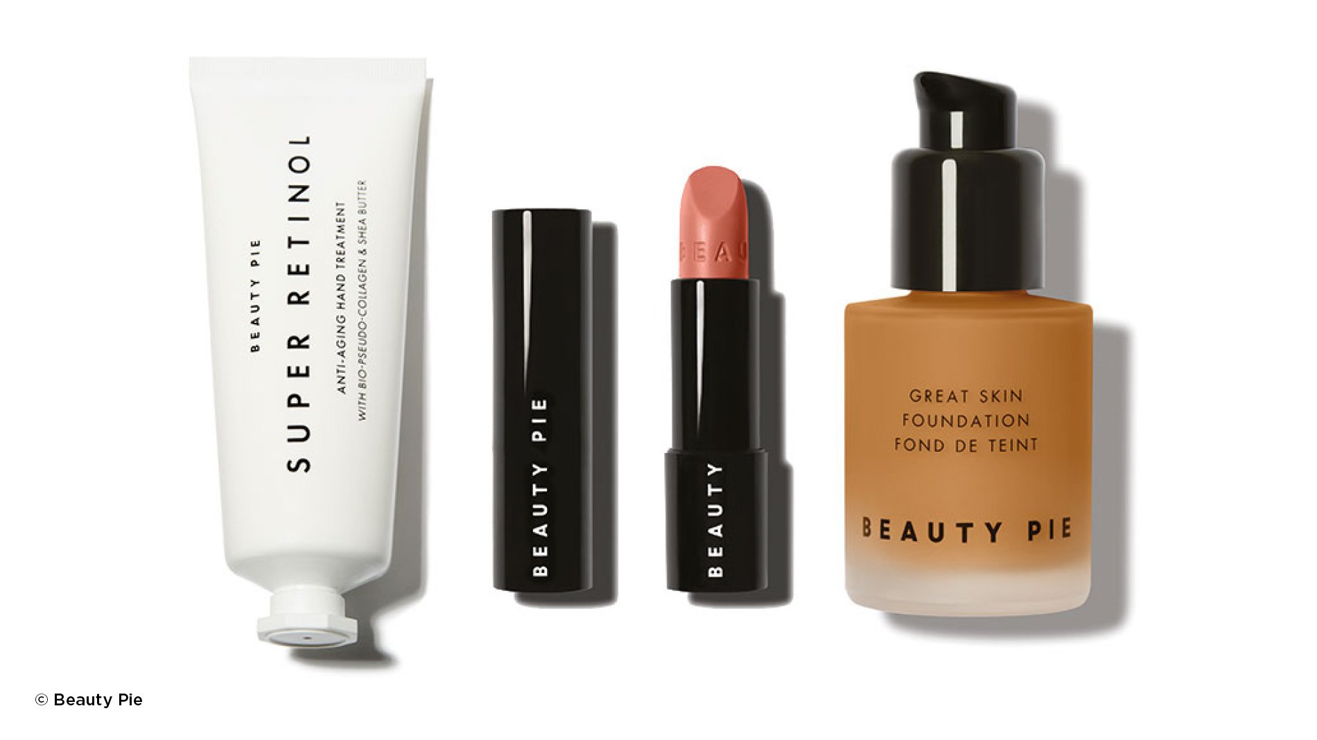 packaging by disruptive beauty brand Beauty Pie