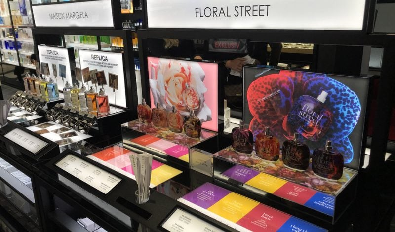 Floral Street in-store units designed by Beyond London retail design team