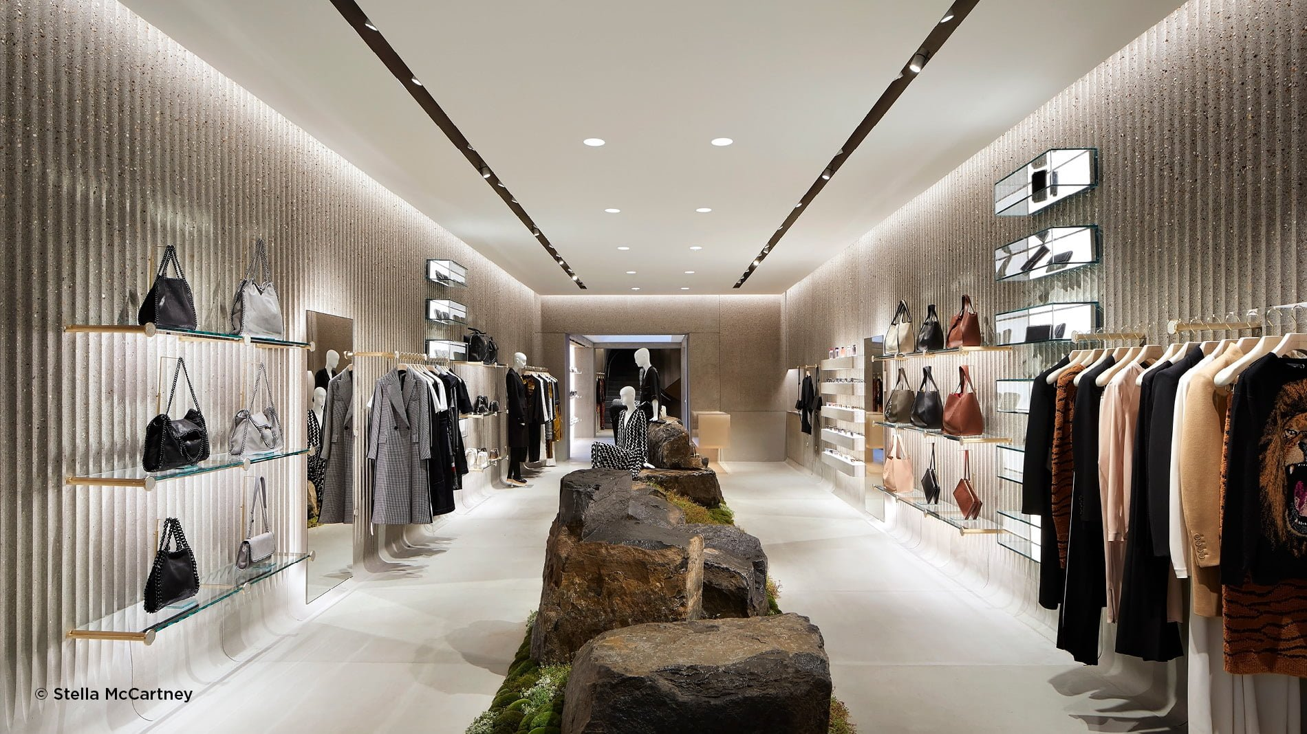 Interior of Stella McCartney's new sustainably designed Old Bond Street Store in London