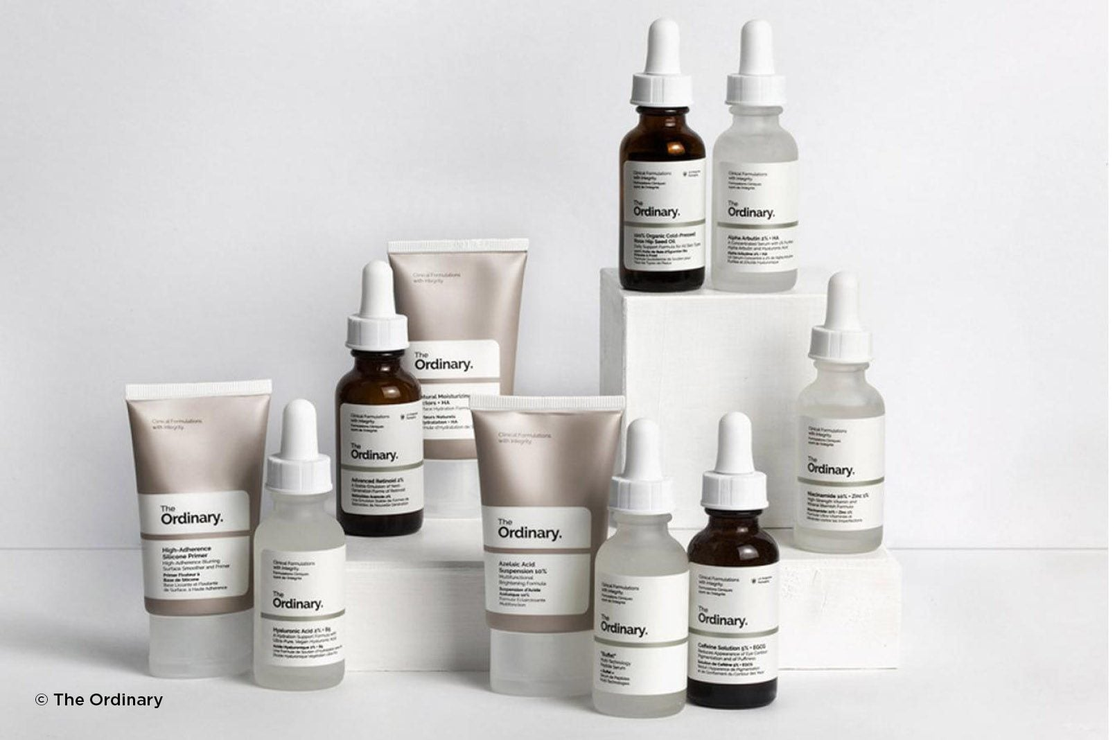 disruptive beauty brands and skincare range The ordinary with scientific, minimal packaging