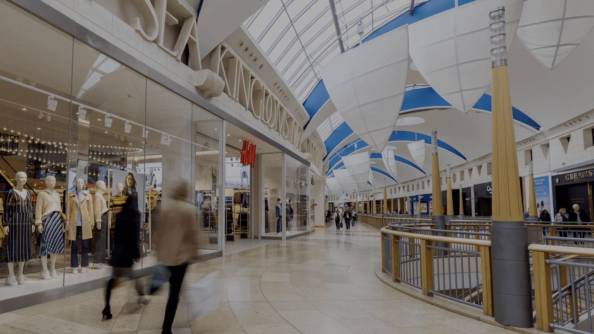 Property header still interior of shopping centre