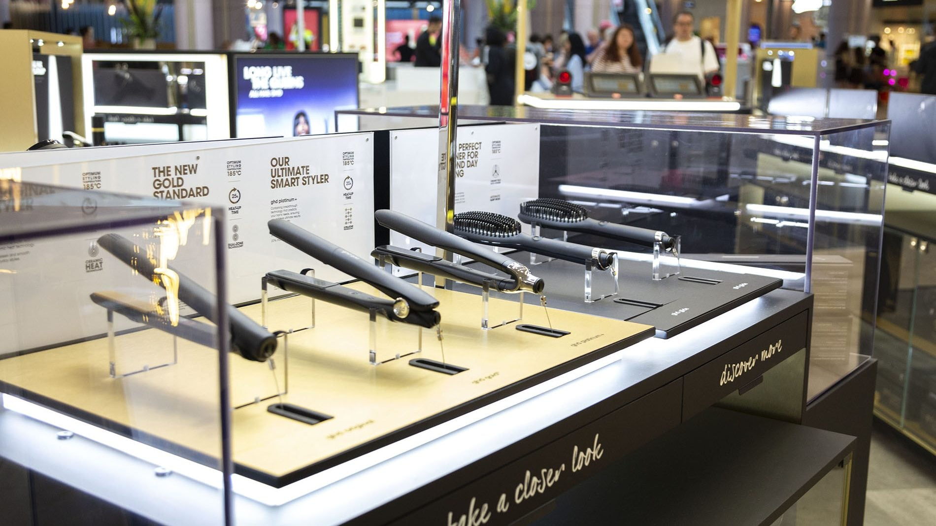 GHD kiosk at westfield london