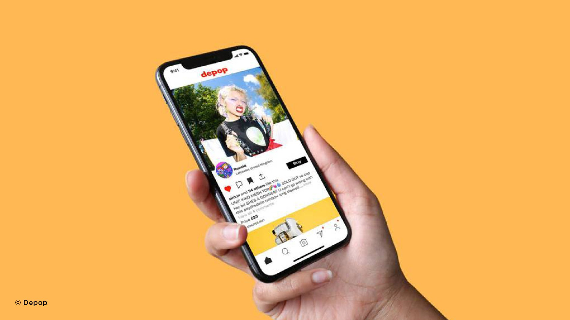 Depop mobile shopping e-commerce