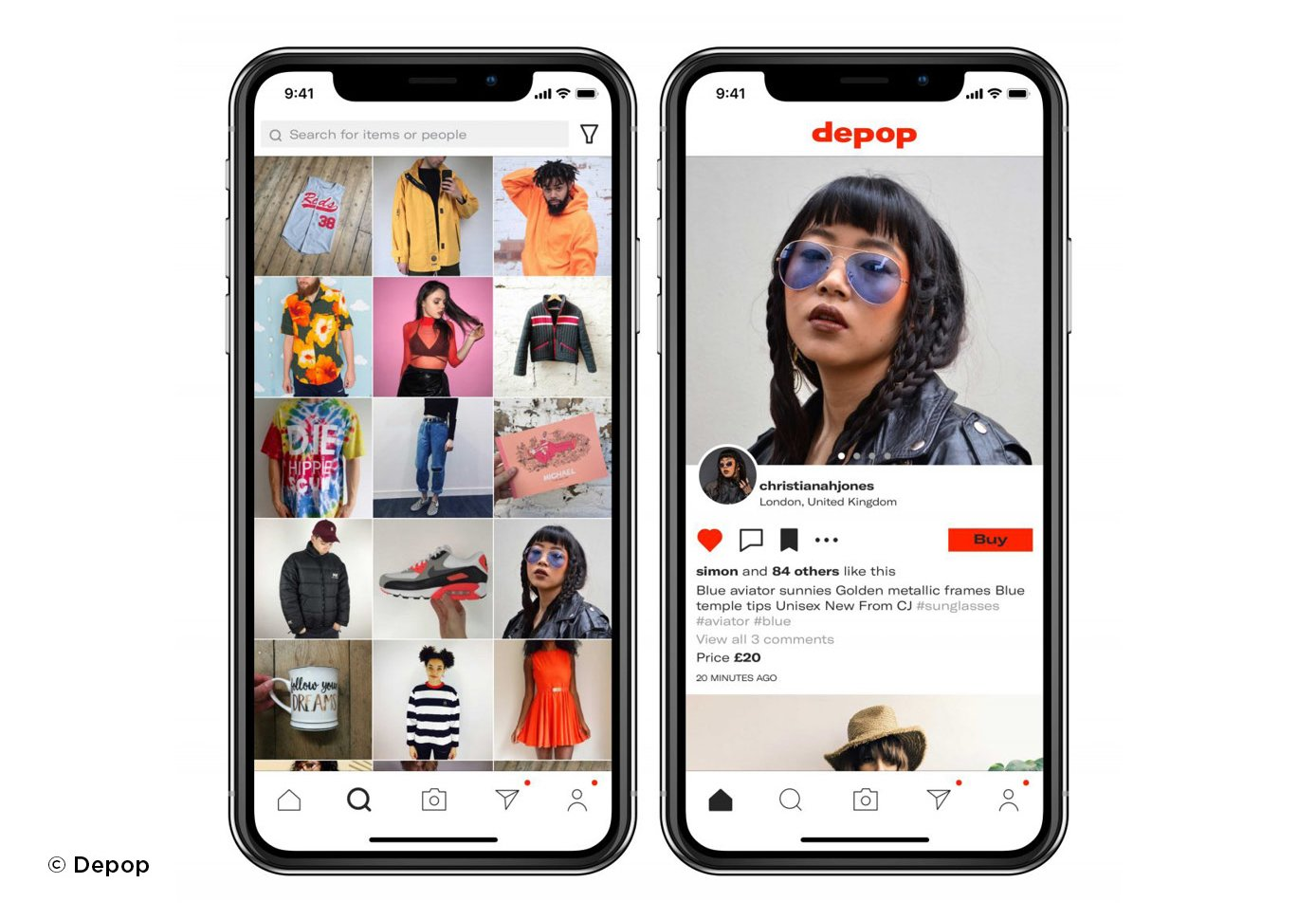 Depop challenge the backlash on bland e-commerce by offering exciting ways to shop online
