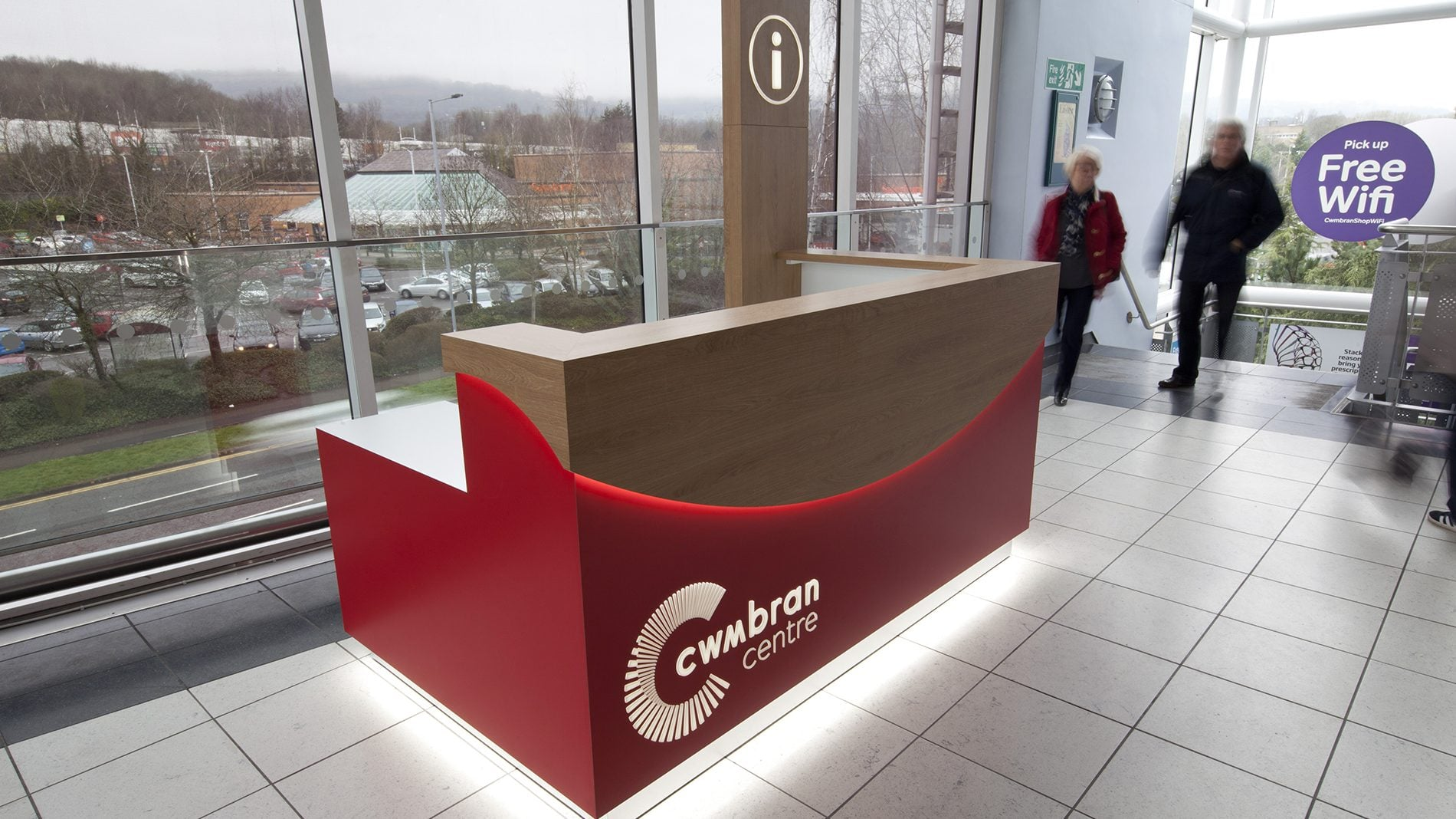 Cwmbran castle branded information desk
