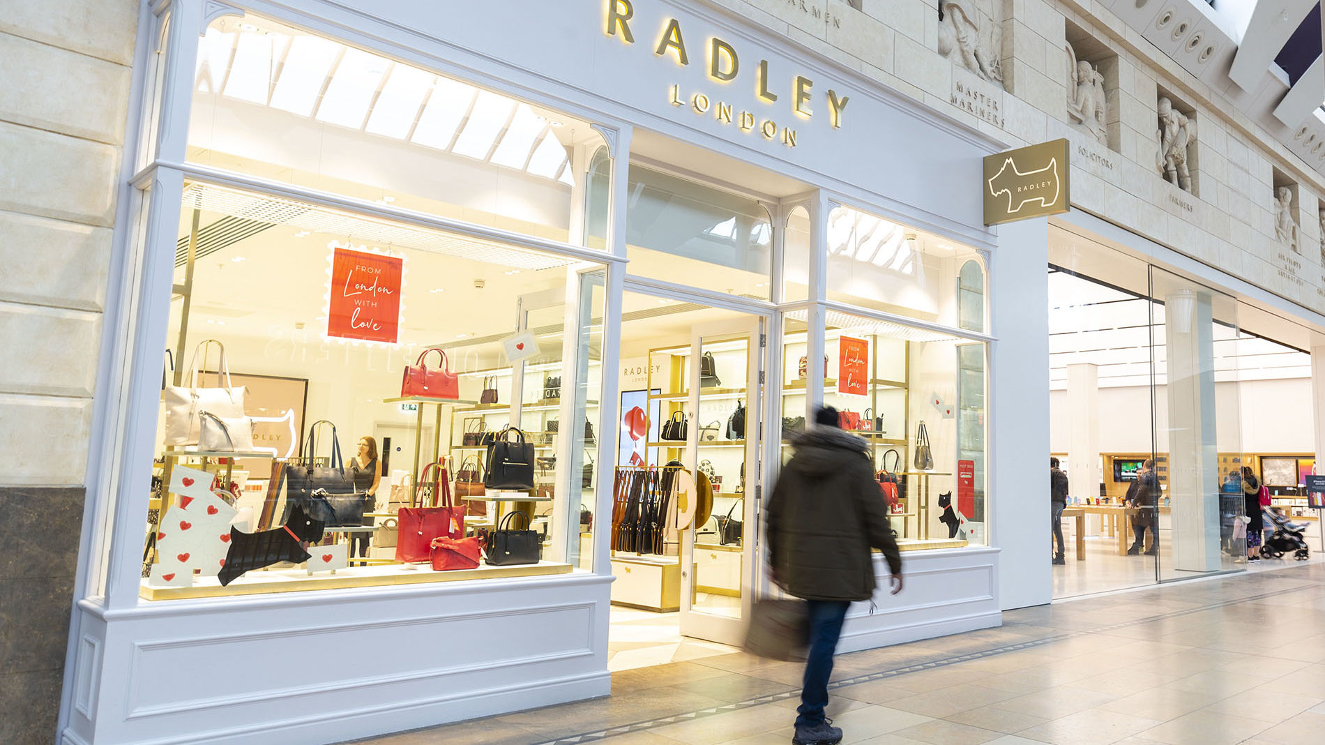 Radley store front at Bluewater shopping centre