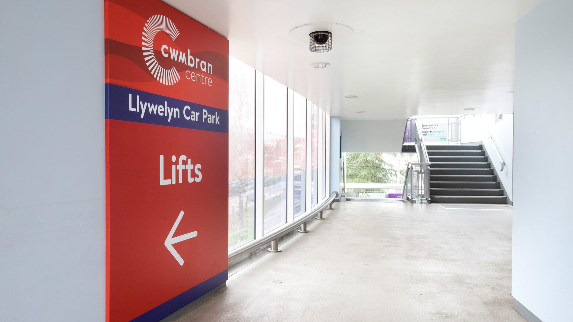 Cwmbran castle branded interior signage