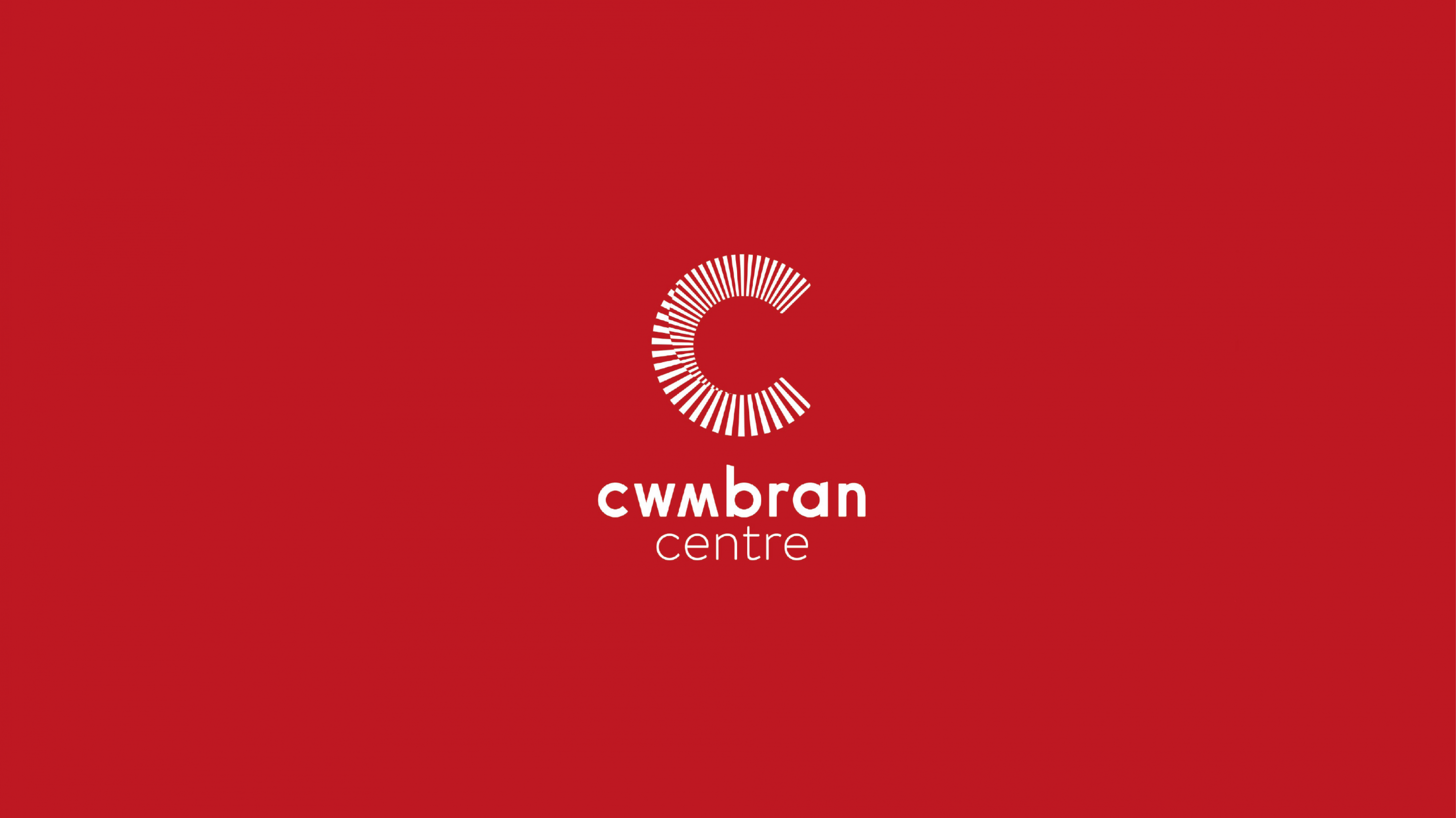 Cwmbran logo smaller on red