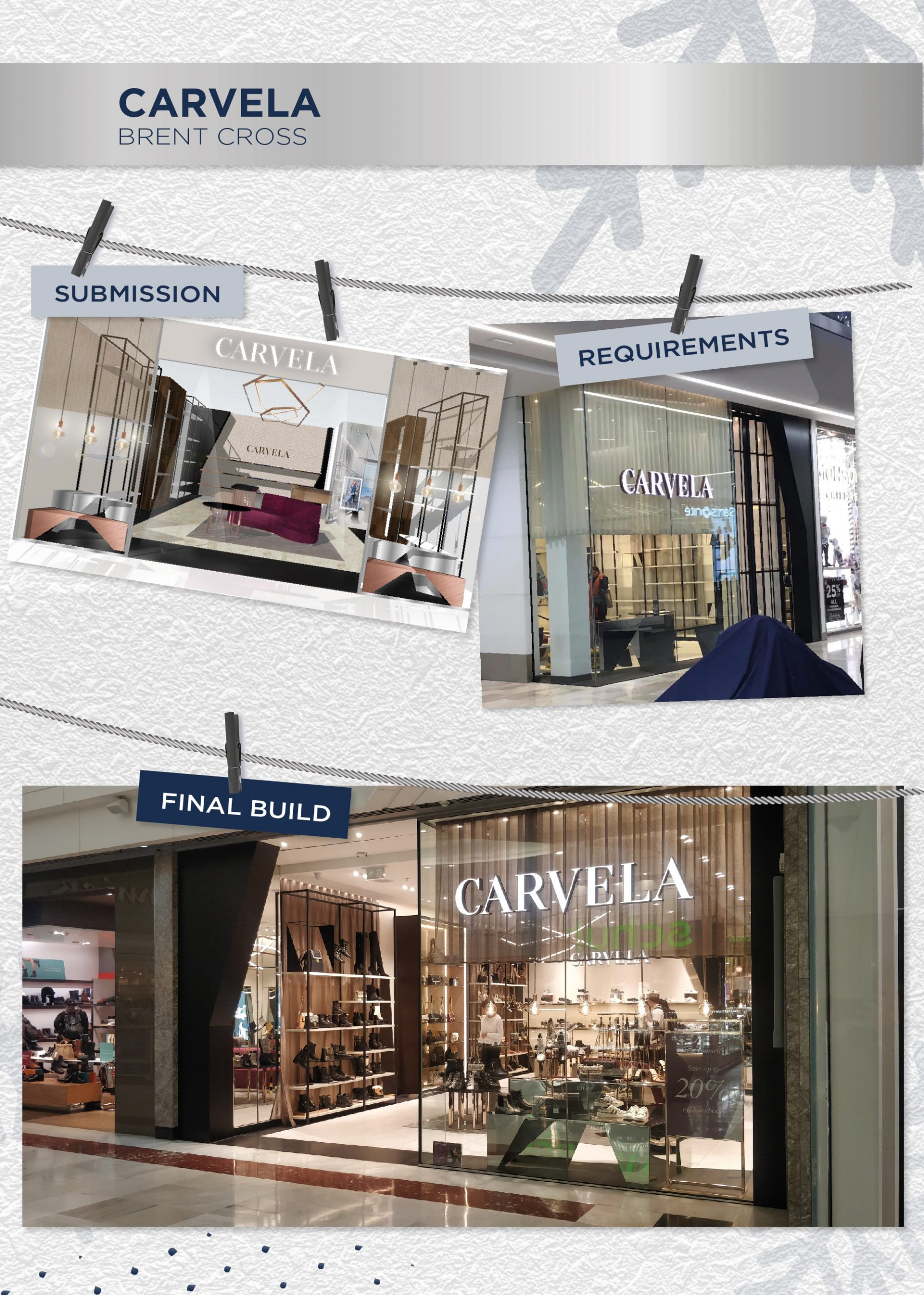 Beyonds retail design management team Carvela store front