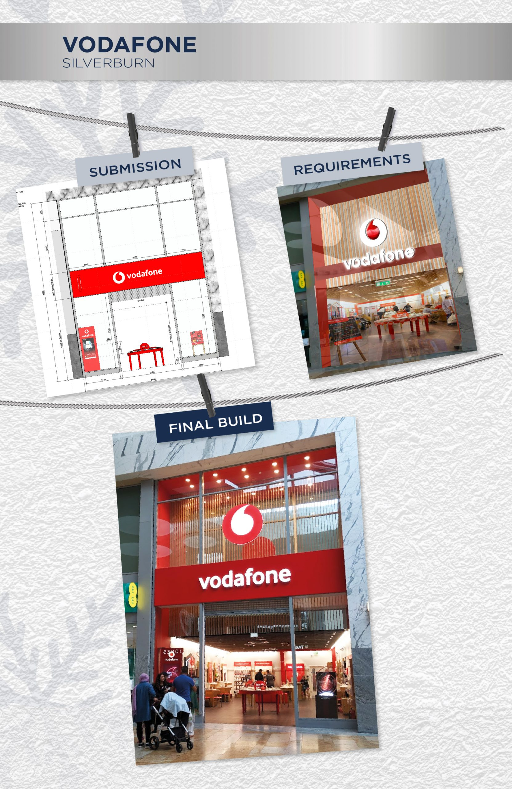 Beyonds retail design management team Vodafone store front