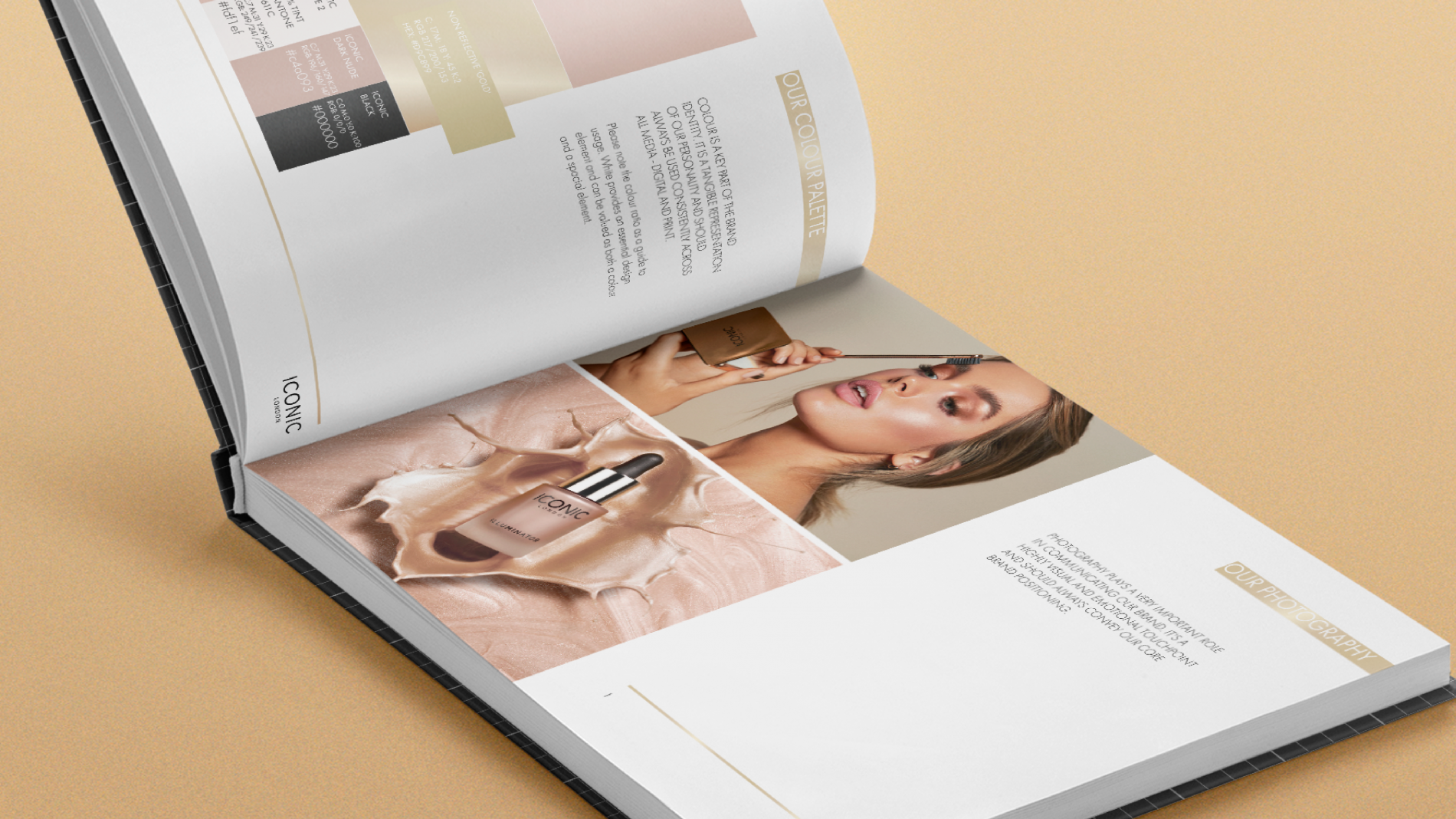 Iconic beauty brand guidelines colours